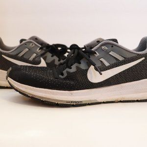 Nike Air Zoom Structure 20 Black Grey Womens Shoes